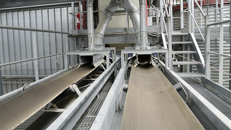 Bandes transporteuses manutention des grains